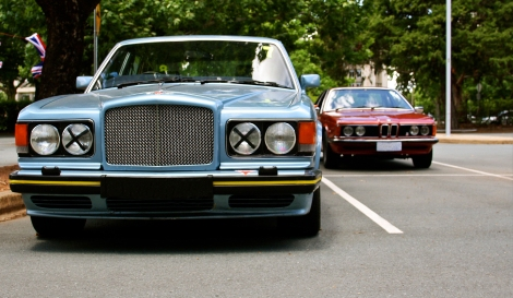 Race tape and a Rolls Royce grille. Does it get any better?
