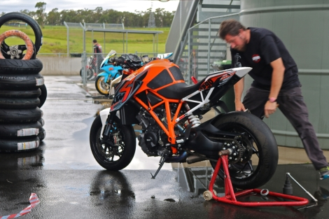 KTM 1290 Superduke race bike
