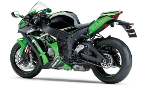 Colour schemes have never been Kawasaki's strong point. At least you can't see the bike while you're riding it.