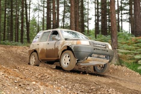 land rover Freelander rally car