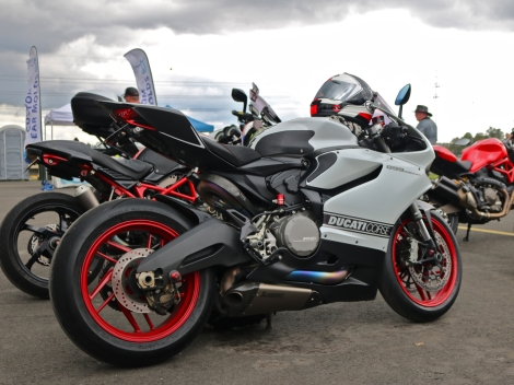 This 899 was a crowd favourite, no doubt thanks in part to the beautiful Akrapovik exhaust.