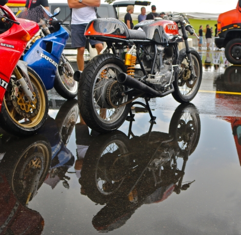 While the rain put a dampener on track time, it made for some great photos.